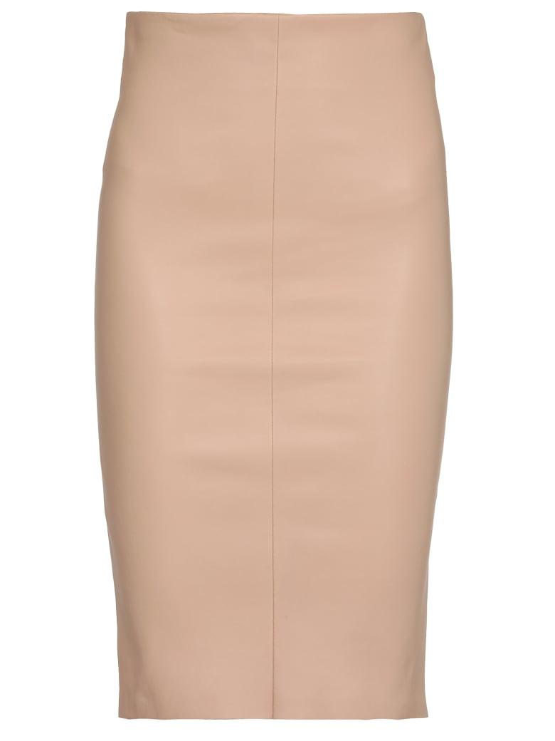 DROMe Leather Skirt - Beige