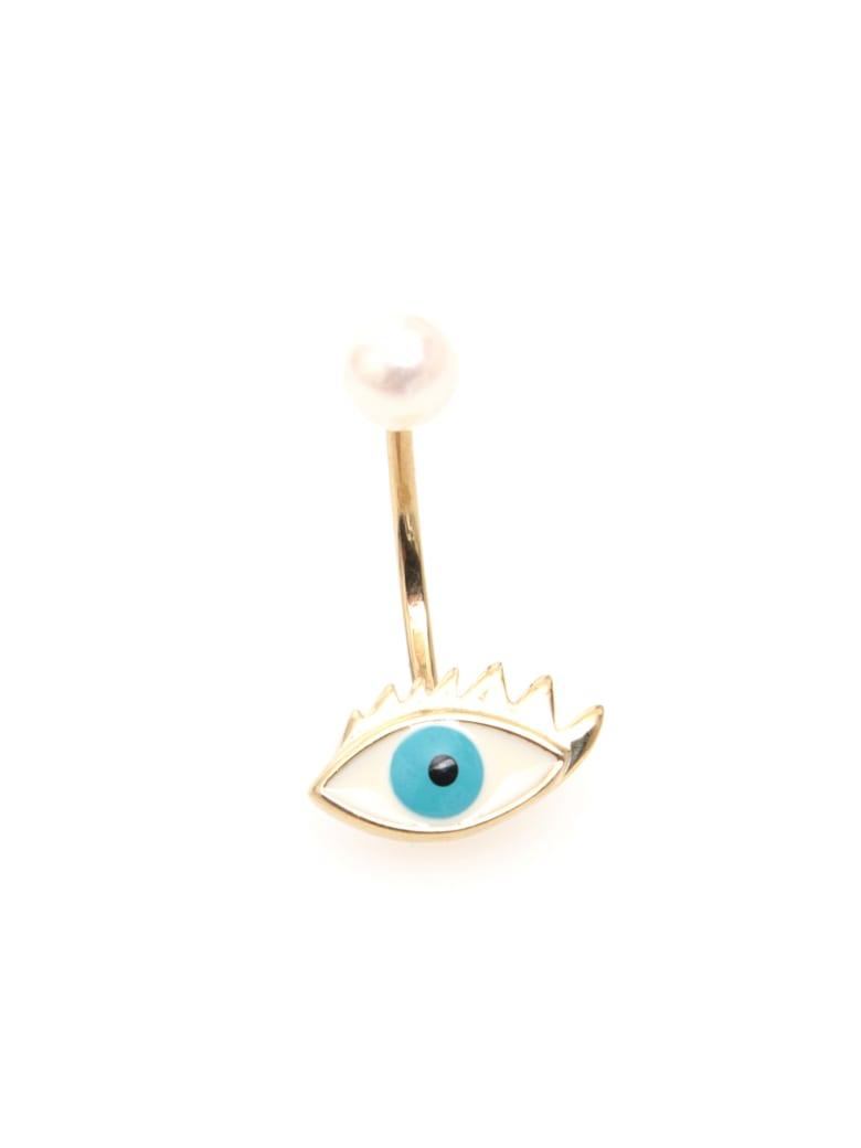 Delfina Delettrez Eye Earring 9kt Gold - LIGHT BLUE (Light blue)