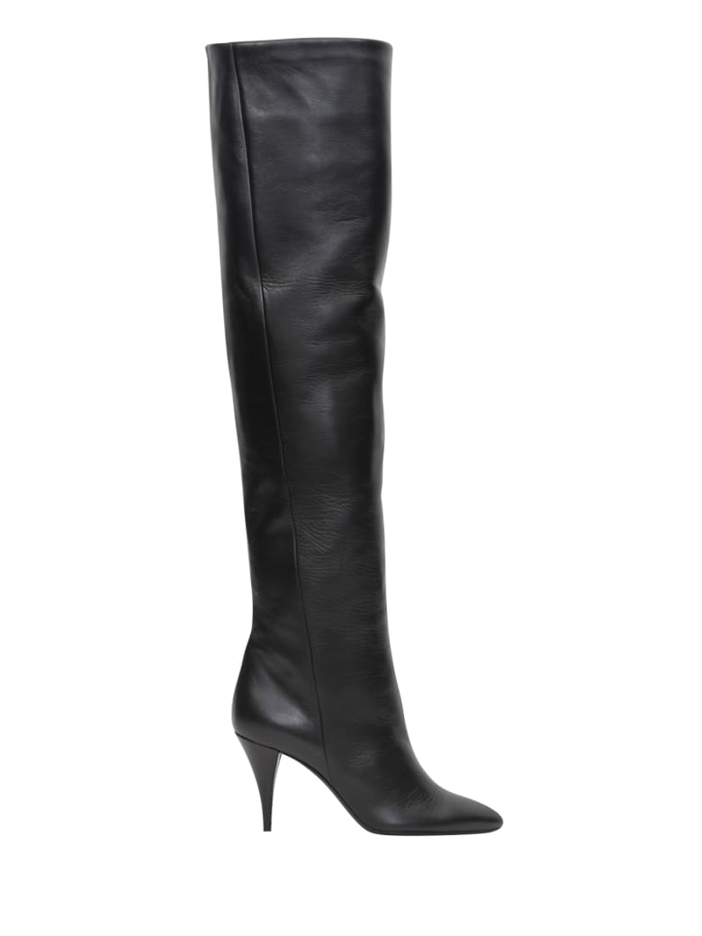 Saint Laurent Kiki Over-the-knee Boots - Black