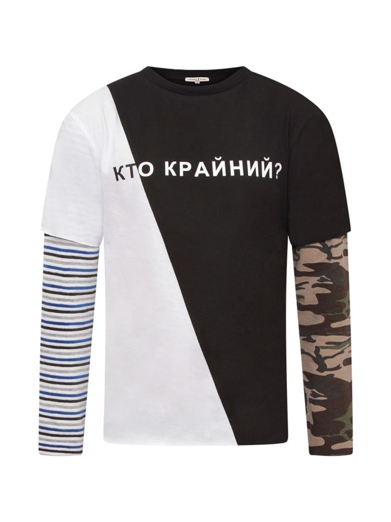 Natasha Zinko White And Black T-shirt For Boy - Multicolor