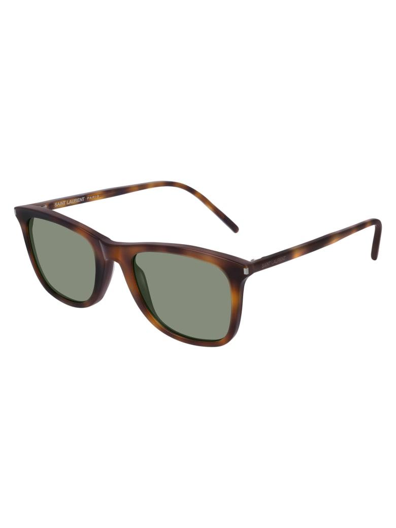 Saint Laurent SL 304 Sunglasses - Havana Havana Green
