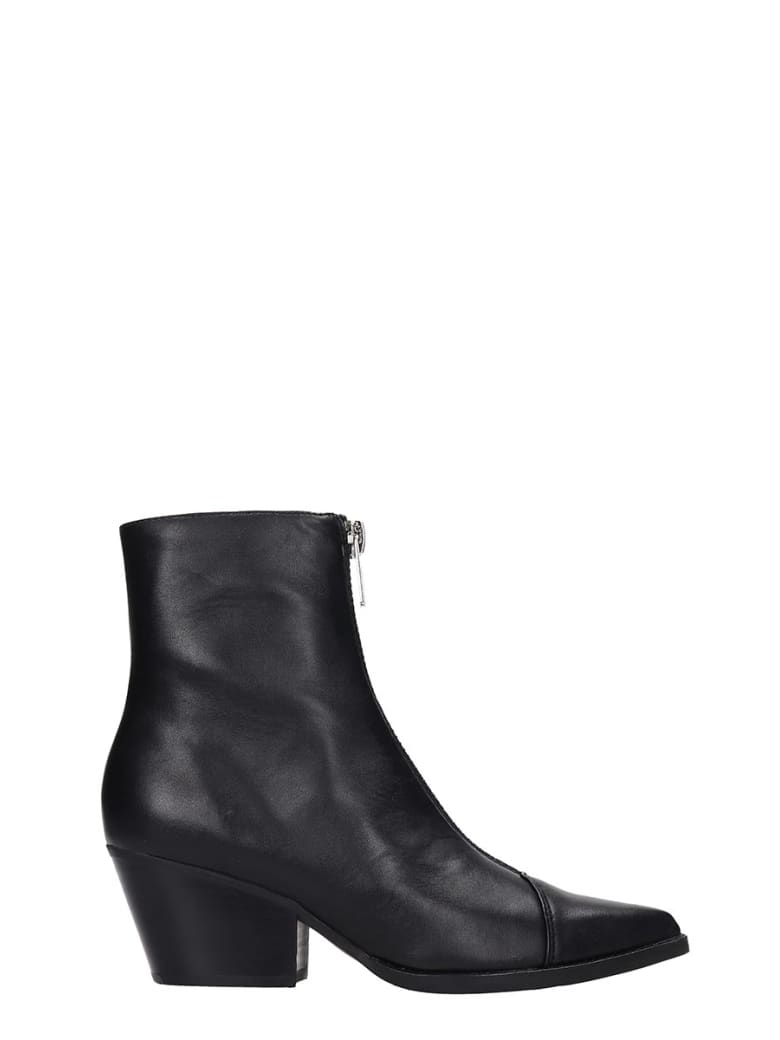 Jeffrey Campbell Landyn Texan Ankle Boots In Black Leather - black