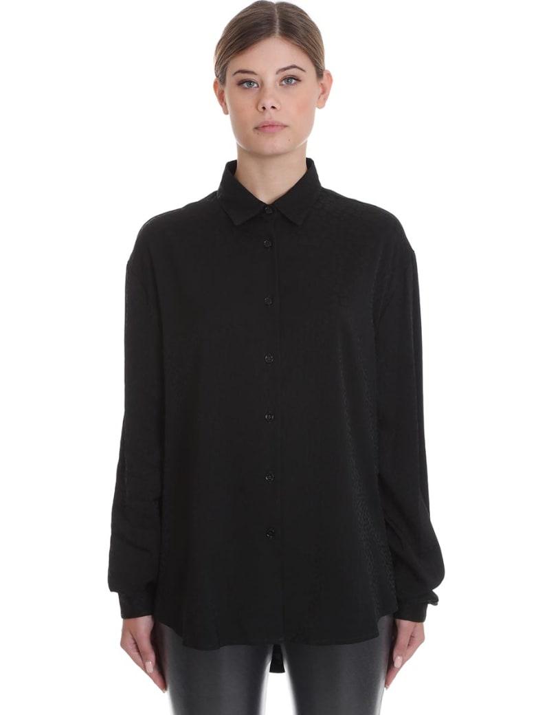 Marcelo Burlon Shirt In Black Silk - black