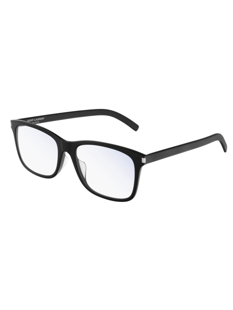 Saint Laurent SL 288/F SLIM Eyewear - Black Black Transpare