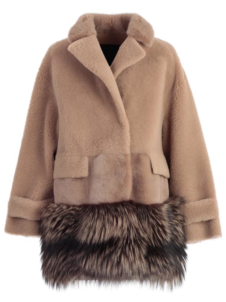 Blancha Fur Paneled Jacket - Birch
