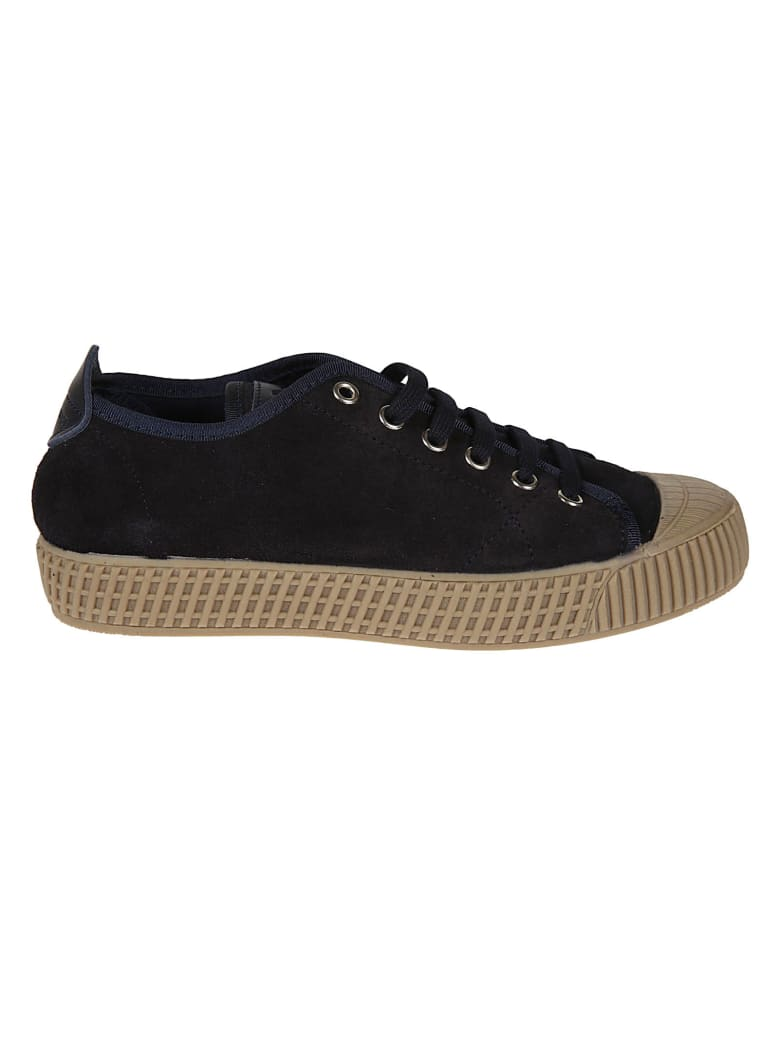 Car Shoe Low-top Laced Sneakers - Blue