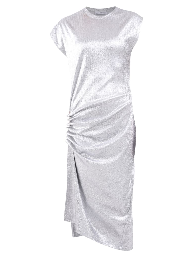 Paco Rabanne Ruched Dress - Silver