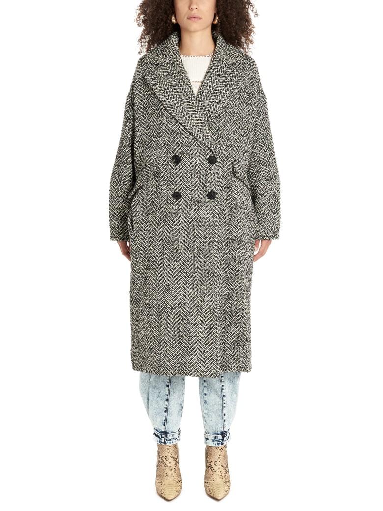 Ulla Johnson 'harden' Coat - Black&White