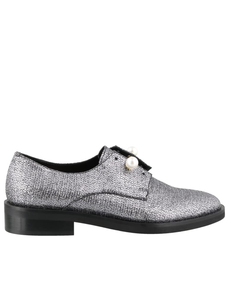 Coliac Disco Ball Lace Up Shoes - Silver