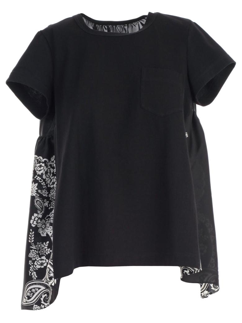 Sacai T-shirt S/s W/pocket - Black