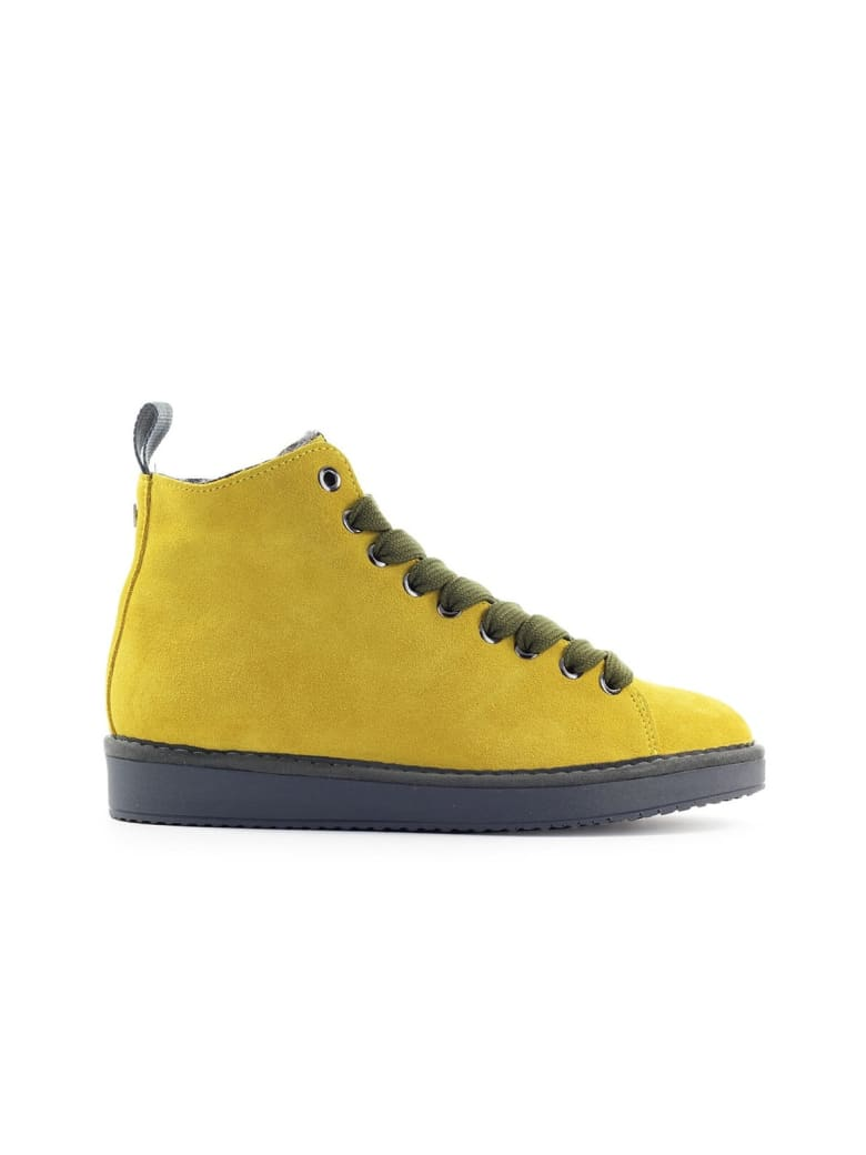 Panchic Pànchic Yellow Suède Olive Green Boot - Giallo