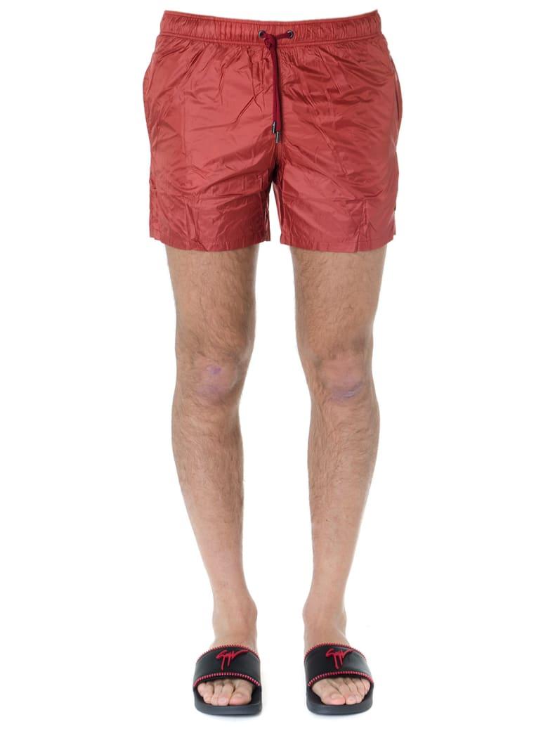 Ermenegildo Zegna Red Nylon Swim Short - Olivetti