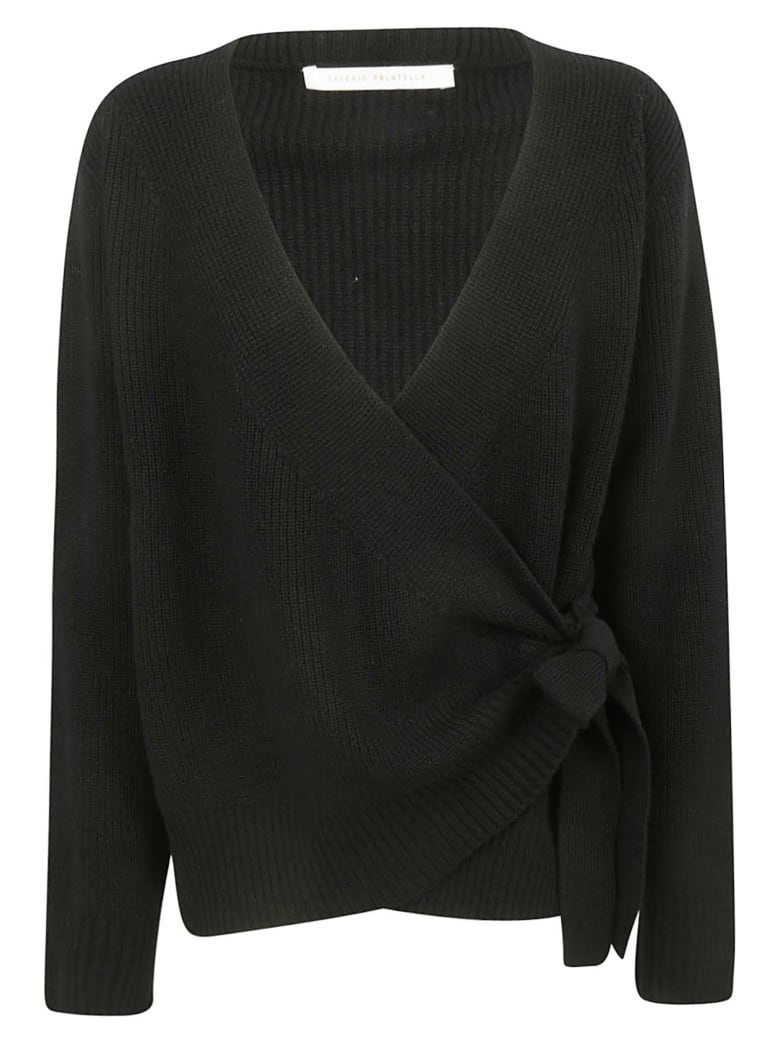 Saverio Palatella Tie Detail Sweater - Black