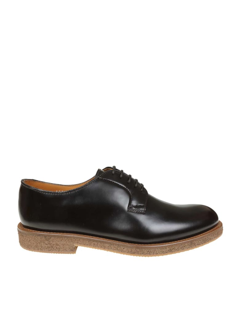 Doucal's Laced In Leather With Ebony - Ebony