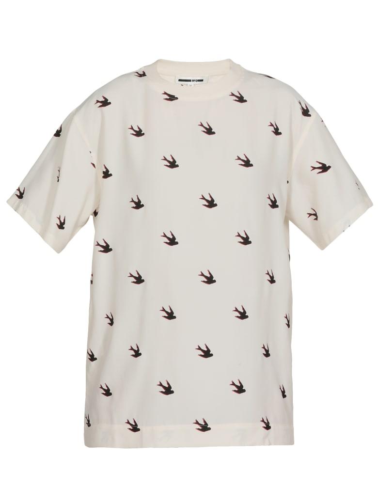 McQ Alexander McQueen Cotton T-shirt - OYSTER