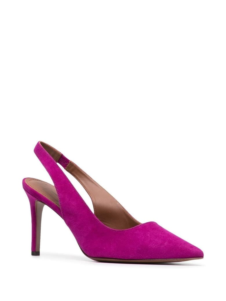 L'Autre Chose Pink Suede Leather Pumps - Fuxia