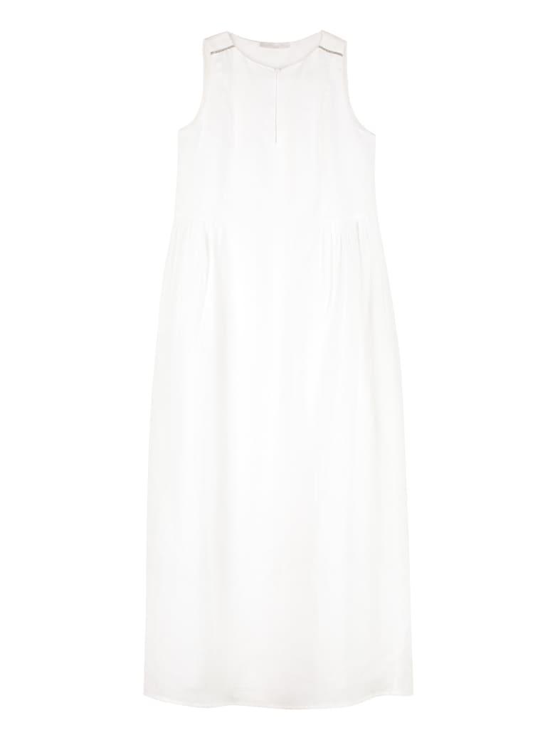 Fabiana Filippi Linen Long Dress - White