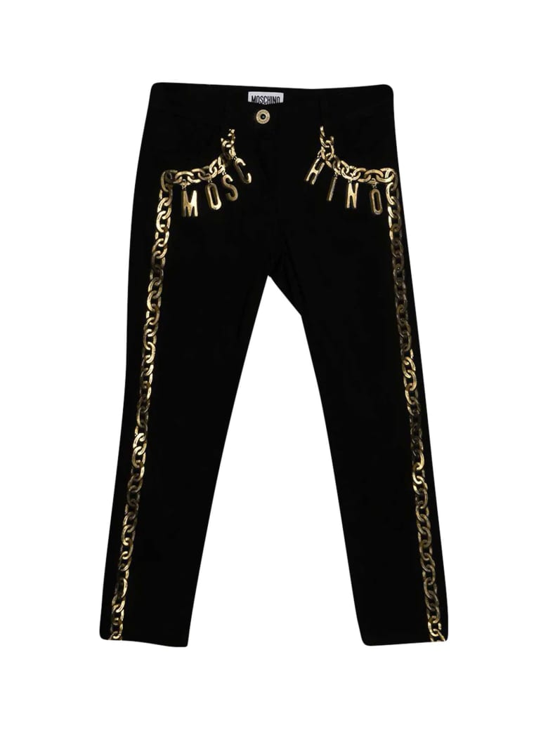 Moschino Jeans With Print - Nero