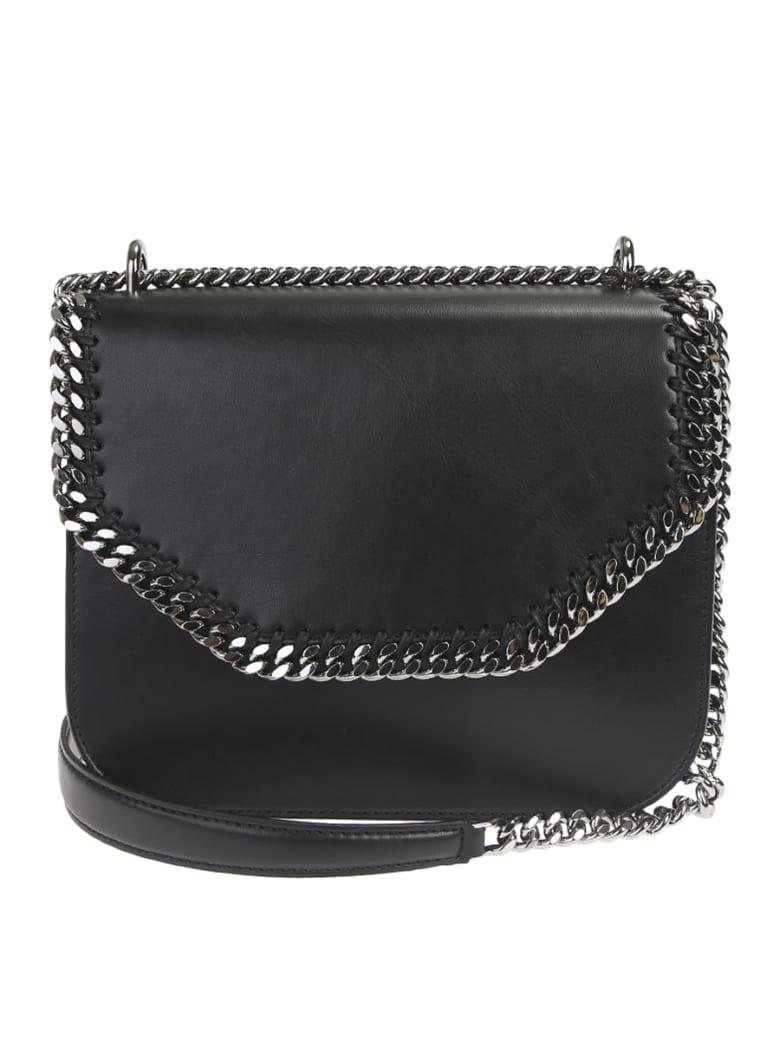 Stella McCartney Black Falabella Large Box Crossbody Bag - Black