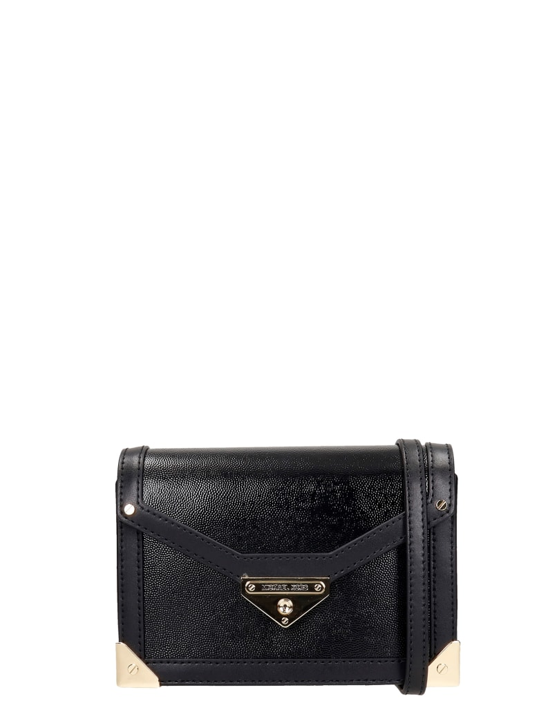 Michael Kors Shoulder Bag In Black Leather - black