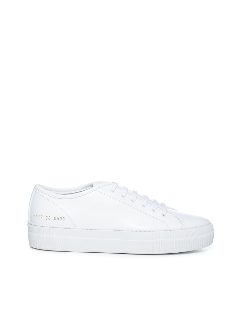 Common Projects Tournament Low Super In Leather Sneakers - White