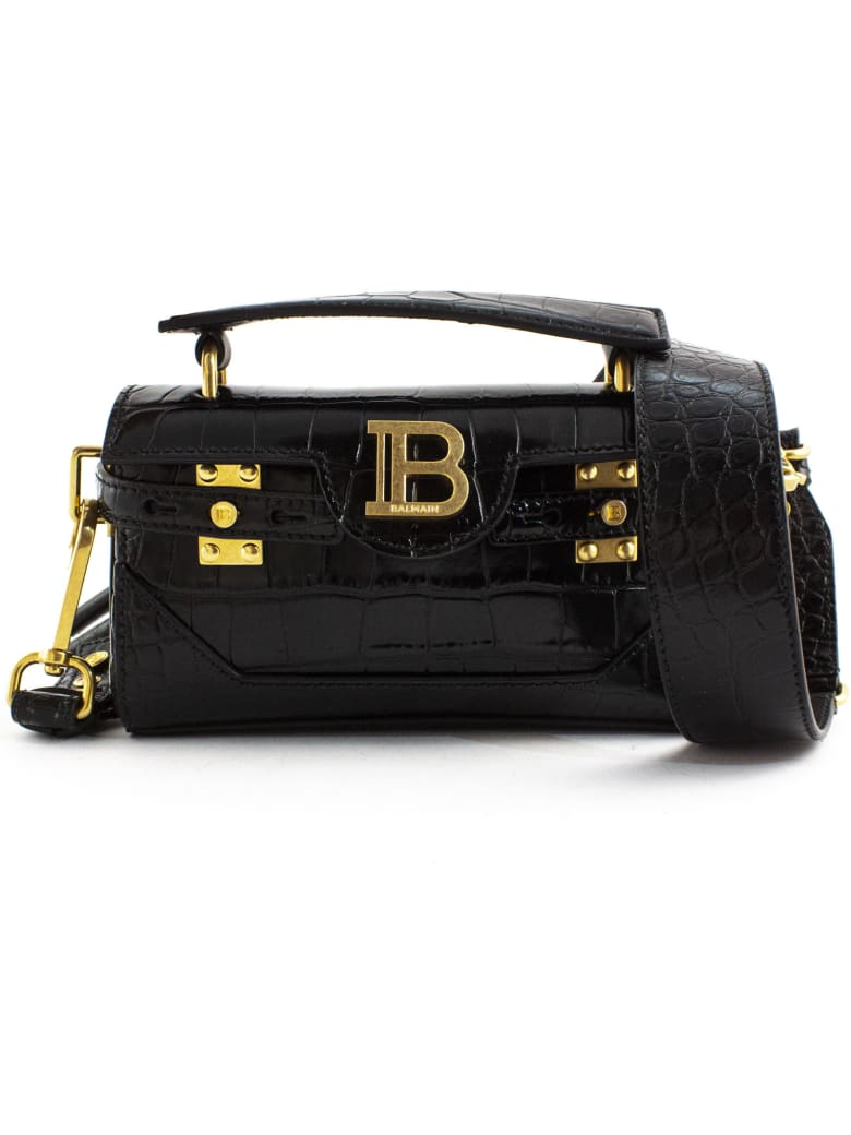 Balmain Black B-buzz 19 Baguette Bag - Nero