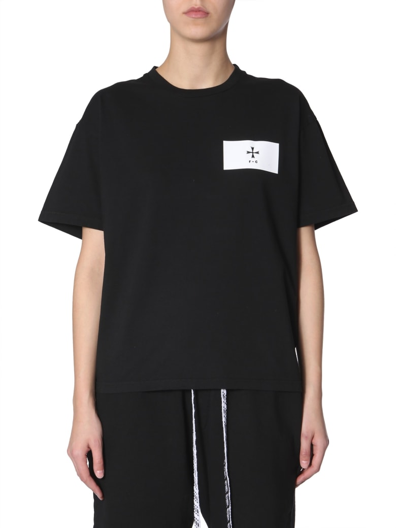 Riccardo Comi T-shirt With Patch Logo - NERO