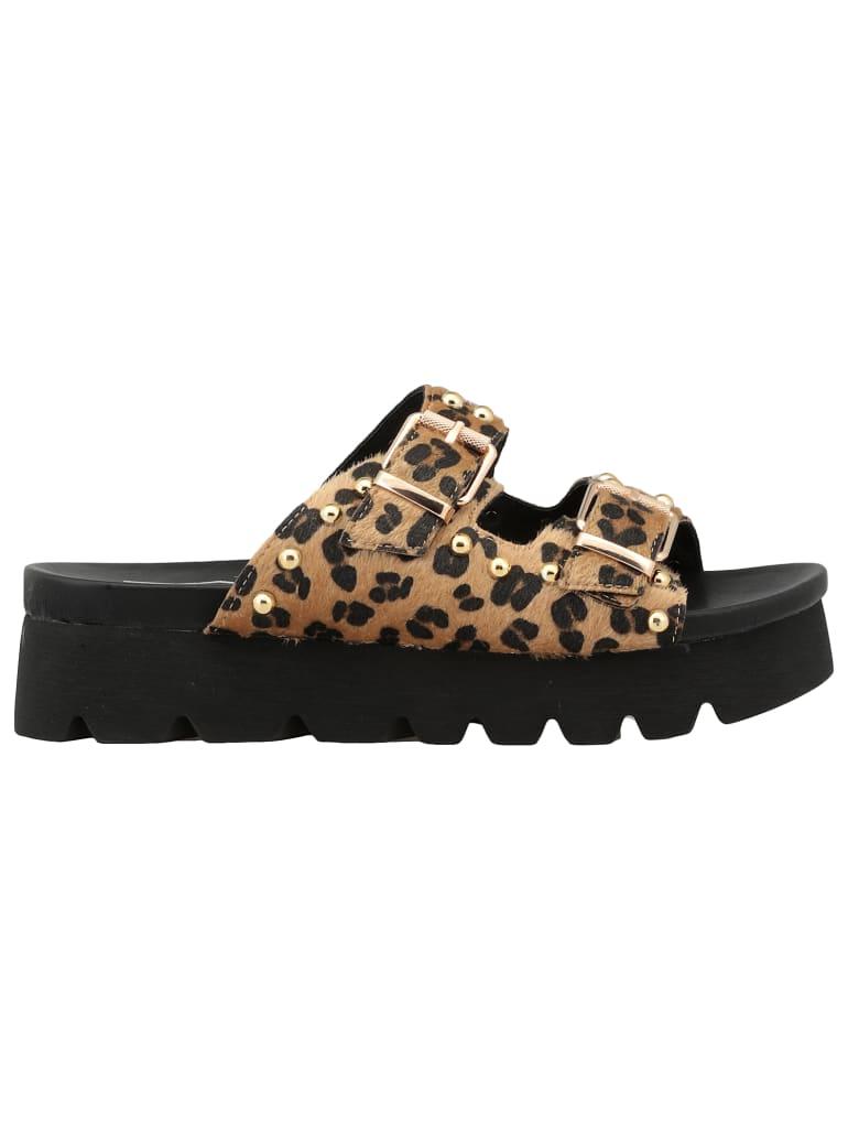Cult Animalier Cowhide Leather Sandal - ANIMALIER