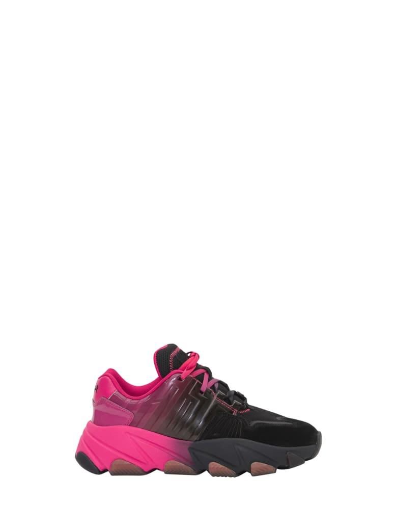 Ash Exstasy Sneaker - Nero/fuxia