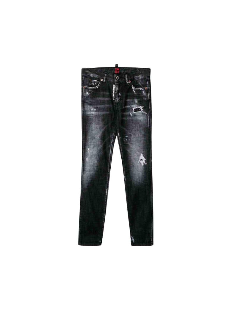 Dsquared2 Jeans In Black Denim Girl - Unica