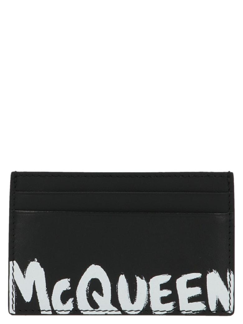 Alexander McQueen 'graffiti' Cardholder - Nero