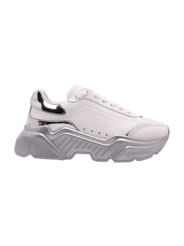 Dolce & Gabbana 'daymaster' Leather Sneakers - Biancoargento