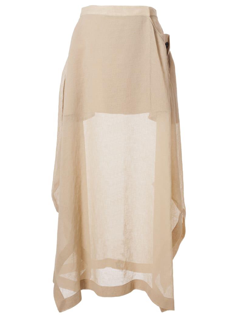 Jil Sander Draped Skirt - Light beige