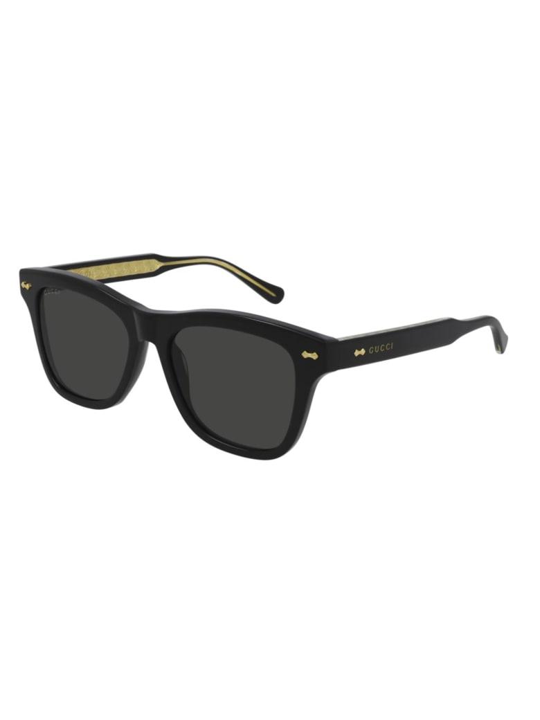 Gucci GG0910S Sunglasses - Black Black Grey