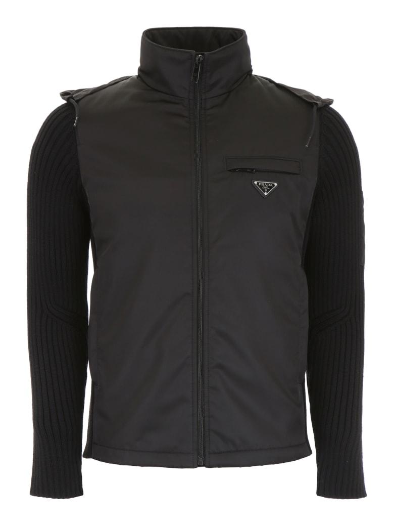 Prada Nylon And Wool Jacket - NERO (Black)