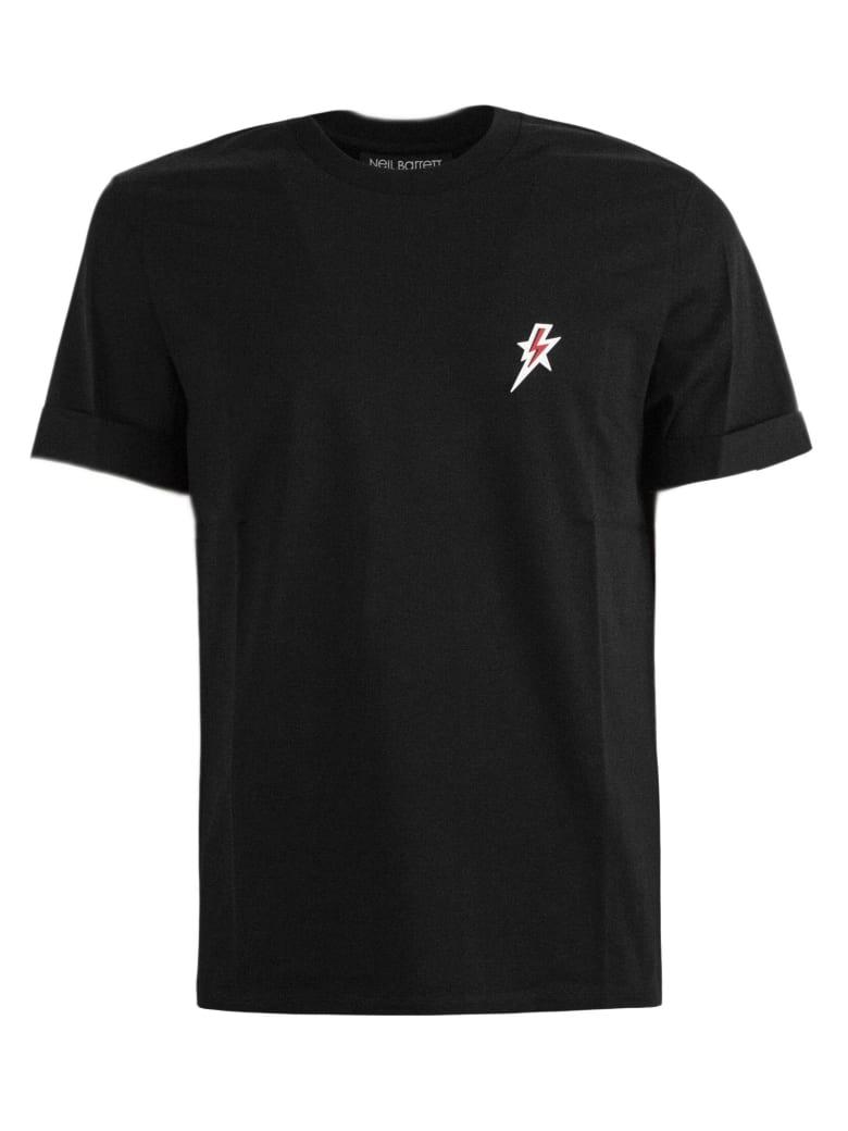Neil Barrett Black Cotton T-shirt - Nero