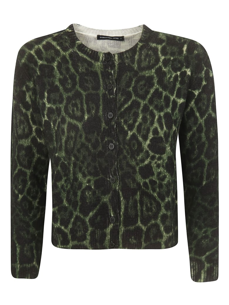 Samantha Sung Cropped Cardigan - Green