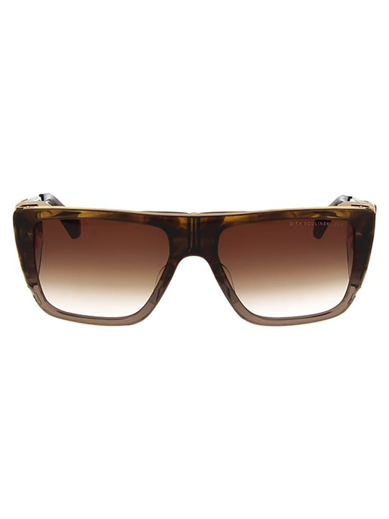 Dita DTS127/56/02 Sunglasses - Dark Brown Swirl/ Crystal