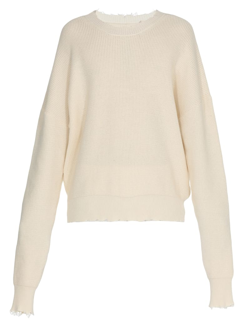 Ben Taverniti Unravel Project Cotton And Cashmere Sweater - EGRET NO C