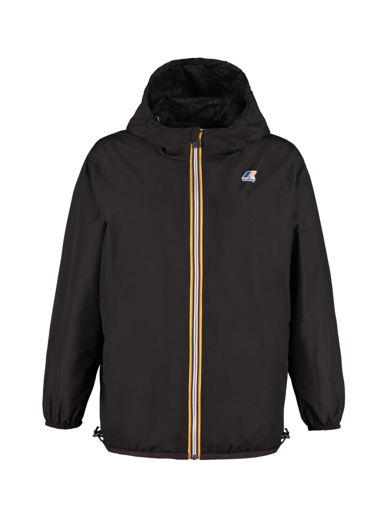 Fendi Reversible Windbreaker Jacket - Fendi X K-way - black