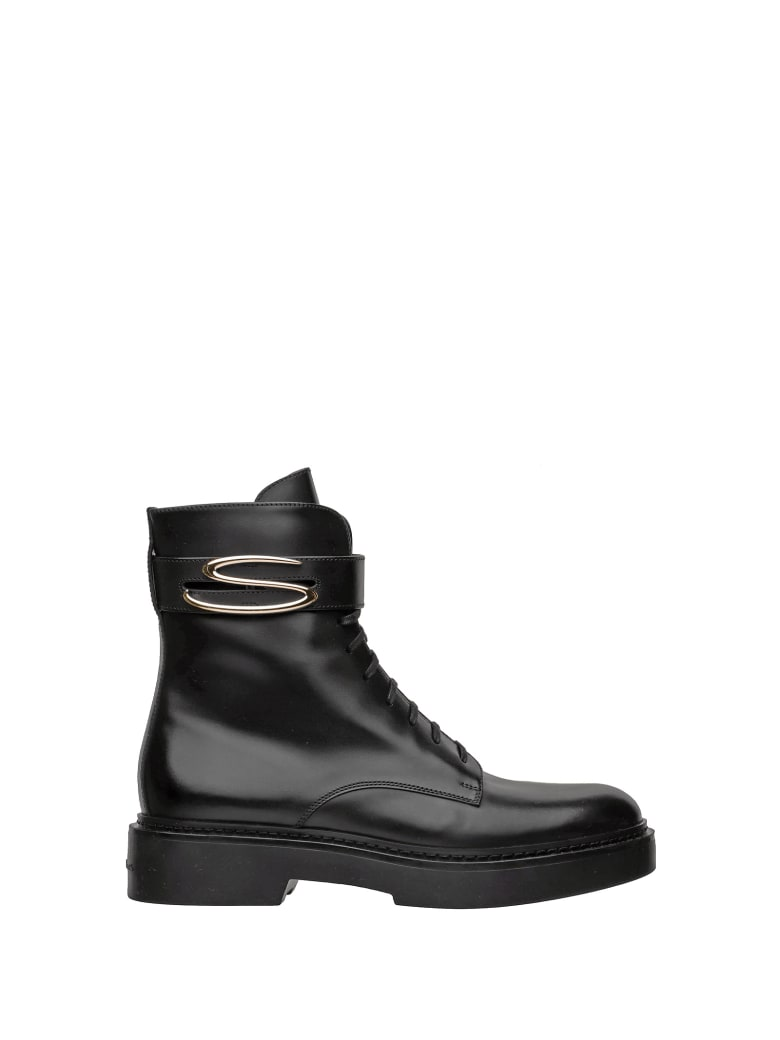 Santoni Santoni 1 ^ Linea Ankle Boots - NERO