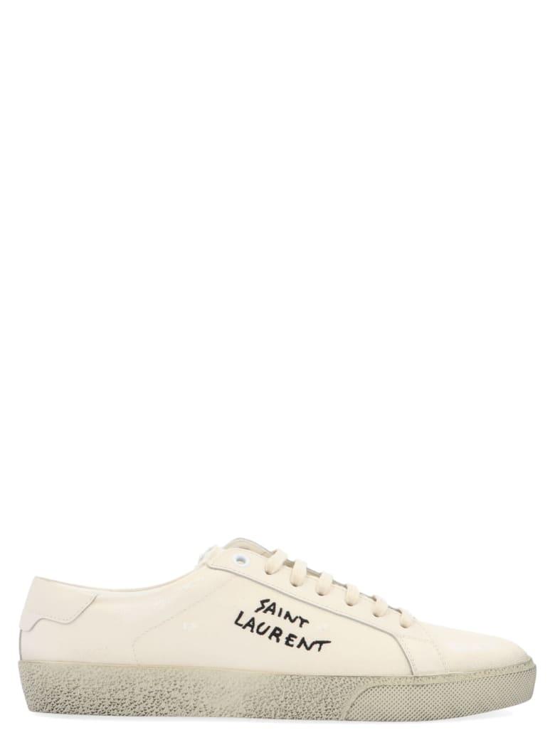 Saint Laurent 'logo Signature' Shoes - White