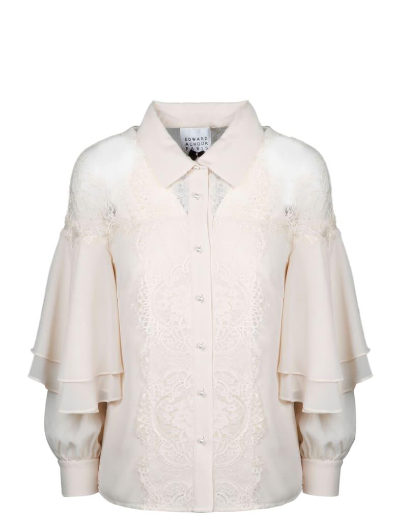 Edward Achour Paris Lace Shirt - White