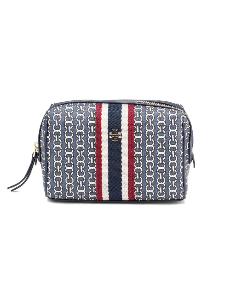 Tory Burch Gemini Link Canvas Small Pouch - Tory Navy Gemini Link