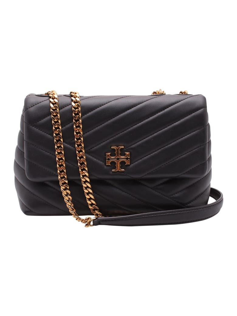Tory Burch 'kira' Leather Shoulder Bag - Black
