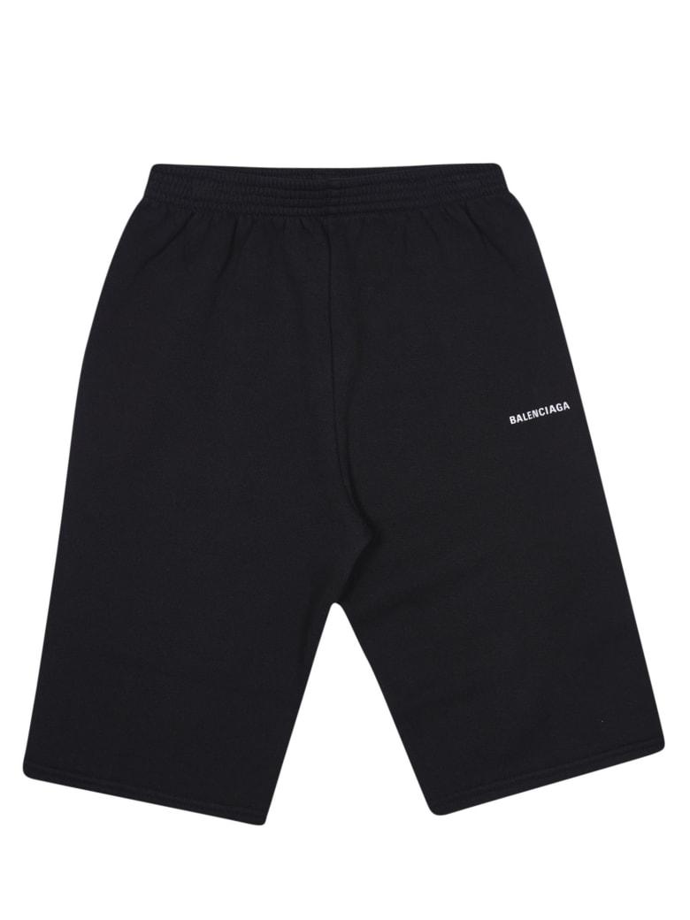 Balenciaga Side Logo Shorts - Black