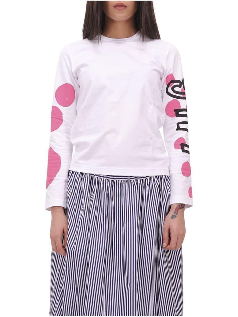 Comme Des Garçons Girl Dot Girl T-shirt - White