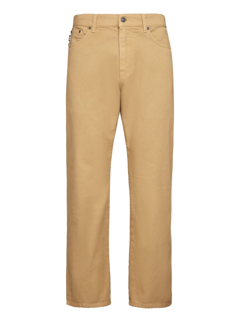 MSGM 5-pocket Straight-leg Jeans - Beige