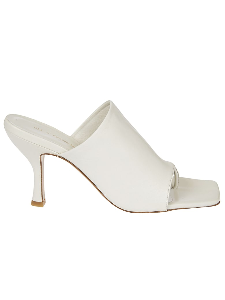GIA COUTURE Perni High Heel Close Ankle Sandals - White