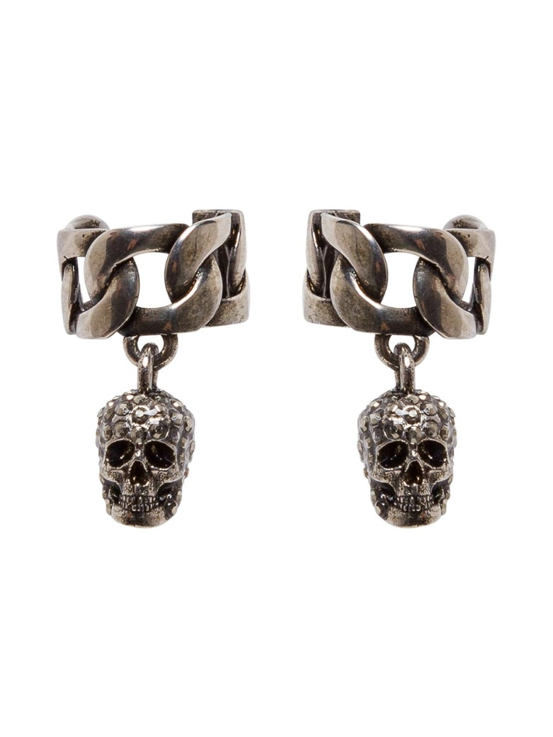 Alexander McQueen Skull Chain Earcuff - Metallic